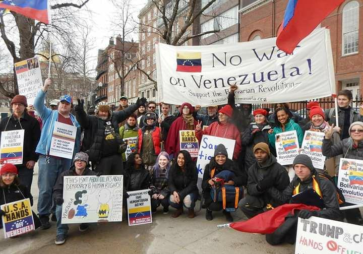 Protesters across North America say: 'No U.S. war on Venezuela!'