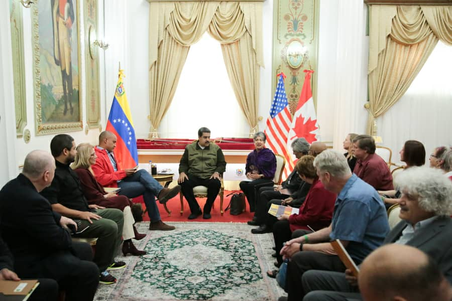 Maduro meets U.S. anti-war delegation, says, 'Humanity's battle is between socialism and capitalism'