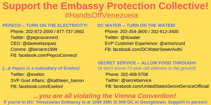 Call, Tweet to Support Embassy Protection Collective